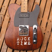 Telecaster mogano acero body top